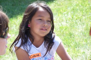 picture of first nations child at vacation bible school
